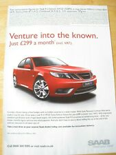 SAAB SALOON URBAN COMBINED 2010 POSTER ADVERT READY FRAME A4 SIZE FILE K
