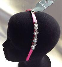 Lulu Pink Beaded Sparkling Headband-New