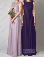 Chiffon Lace Evening Dress Long Formal Party Ball Gown Prom Bridesmaid Dresses