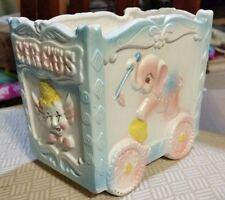 Clown Circus Wagon Elephant Poodle Dog Horse Baby Nursery Planter Napco Vintage