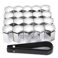 20x 17mm Chrom Kappen Abdeckungen Caps für Radschrauben Radmuttern Radschrauben