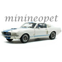 SOLIDO S1802901 1967 SHELBY MUSTANG GT 500 1/18 WHITE with BLUE STRIPES