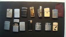 Huge Lot of 14 Cigarette Lighters - Champ - Reliant - Storm King - Hudson Ronson