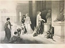 """Lithographic Reproduction after Auguste Ballin """"Liberalite Des Dames Romains"""""""