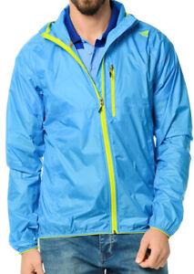 adidas Climastorm Mens Hooded Jacket Blue Full Zip Waterproof Sports Windbreaker