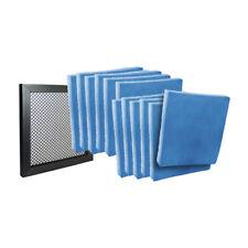 13 x 21-1/2 x 1 - (12) Hvac Air Filter Pads Blue / White & Air Filter Frame