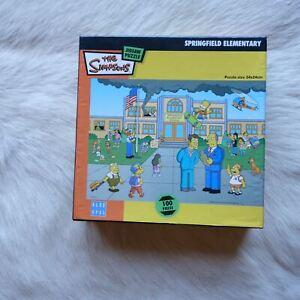 Blue Opal THE SIMPSONS Springfield Elementary 100 Piece Jigsaw Puzzle Cartoons