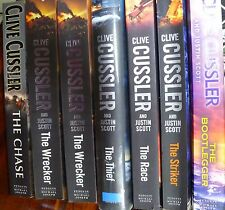 CLIVE CUSSLER  ISSAC BELL Series x 7 Books LARGE. The Chase, The Striker