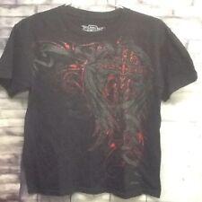 MMA Elite Boys Size 14/16 UFC Black Short Sleeve Graphic Tee Shirt