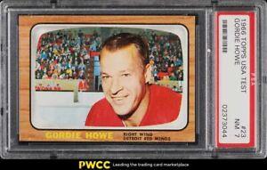 1966 Topps USA Test Hockey Gordie Howe #23 PSA 7 NRMT