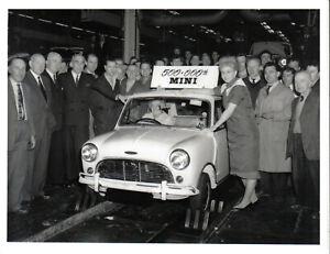 Austin Mini Cooper Mk 1 500,000th Mini off Production Line Original Press Photo