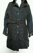 Real leather woman's coat size M VGC black