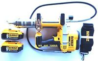 New Dewalt DCGG571 20V Cordless Grease Gun, (2) DCB205 5.0 AH Batteries 20 Volt