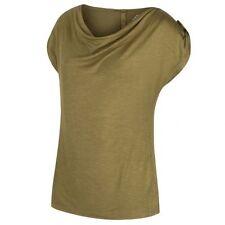 T-shirt, maglie e camicie da donna verde viscosa a girocollo