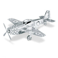 MUSTANG P-51 3D Metal Kit Silver Edition Metal Earth 1003