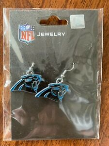 NFL Carolina Panthers Team Logo Earrings by Sisklyou Sports New