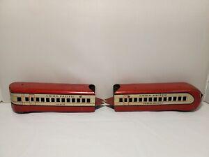 Marx Trains Streamline Red Union Pacific Coach Buffet Car Tinplate O Scale
