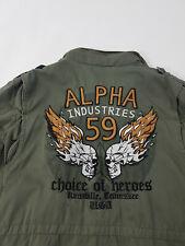 Original Alpha Industries Feldjacke Burning Skull Army Totenkopf Punisher 59