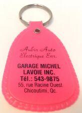 Vintage Promo Keychain AUBIN AUTO ELECTRIQUE Porte-Cle GARAGE MICHEL LAVOIE INC.