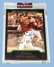 2005 - BOWMAN STERLING - DAVID WRIGHT - CERTIFIED AUTOGRAPH ISSUE - 67/98