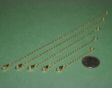 Cable Chain Extenders with Lobster Clasp Lot 5 pcs 14kt Gold Filled 1.5x2mm Flat