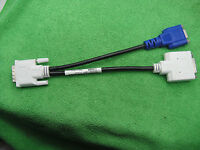 DELL DVI to 24+5 AV + VGA 2-Monitor Screen Y-Splitter Cable Adapter Model WU329