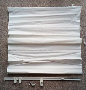 cotton washable roller blind white thick curtain 67.5cm wide 93 cm long