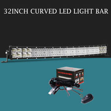 10D 32Inch 3808W Curved Led Light Bar Combo S&F Offroad Truck SUV VS 30/34 32''
