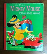 Vintage Little Golden Book MICKEY MOUSE GOES CHRISTMAS SHOPPING