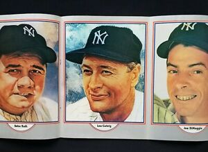 1975 NY Yankees Yearbook Munson, Ruth, Gehrig Mantle DiMaggio