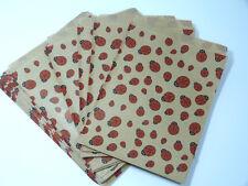 30 Geschenktüten sand-rot m. Marienkäfer Papiertüte Geschenk Verpackung