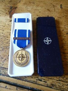 NATO MEDAL BAR EX-YOUGHOSLAVIE (French Issue) cased  (PM)