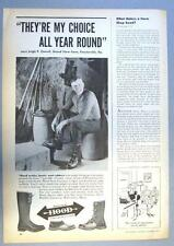Original 1947 Hood Boots Ad Photo Endorsed by Leigh Cornell Feasterville, PA