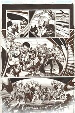 Convergence Suicide Squad #2 p.8 - Poison Ivy & Bane - 2015 art by Tom Mandrake Comic Art