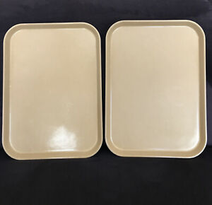 "Vintage Camtray by Cambro (2) Fiberglass Serving Trays 16 1/4"" X 12"""
