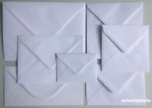 Hi Quality White Envelopes C7 C6 C5 5x7 DL 130 & 155mm Sq Diamond 100gsm