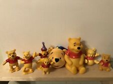 Winnie the Pooh Figures, Pooh Bear, Lot of 8. Different Collectables Pre-owned