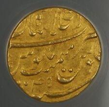 India Mohur Gold Coin Mughal Aurangzeb Shahjahan Abad 1658-1707 Indian Ancient