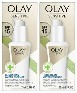 (Pack of 2) Olay Sensitive with Sunscreen SPF 15 - Fragrance-Free - 2.5 fl oz