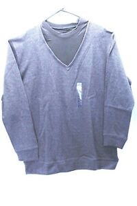 Sun river mens shirt layered look long sleeve grey/black size M & XL       XP8
