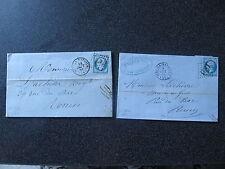 LETTRES PC 1563 13/09/1859 et GC 1851 9/08/1865 IVRY LA BATAILLE (26)