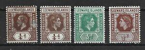 Leeward Islands different stamps