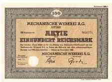 Mechanische Weberei AG 1940 Zittau