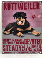 20cm metal vintage style Rottweiler Rottie breed character hang sign plaque
