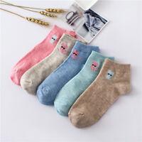 Available Lovely Cat Design Soft Cotton Socks Exquisite Women Girl Short Socks