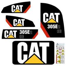 CAT 305E2 CR Decals Stickers Aftermarket Decal kit Laminated