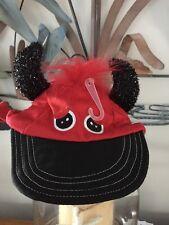 Bootique Red Devillsh Dot Cap/Hat Puppy/Dog small/med
