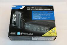 RCA DTA800B1 Digital To Analog Pass-through TV Converter Box with Remote