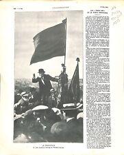 1913 Jean Jaures Meeting Parti Socialiste Paris IMAGE SCOLAIRE 1959 ILLUSTRATION