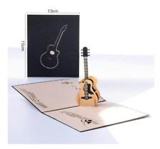 Guitar 3D birthday pop up card festival party greeting card thanksgiving bless